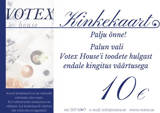 Kinkekaart 10 € Votex House OÜ