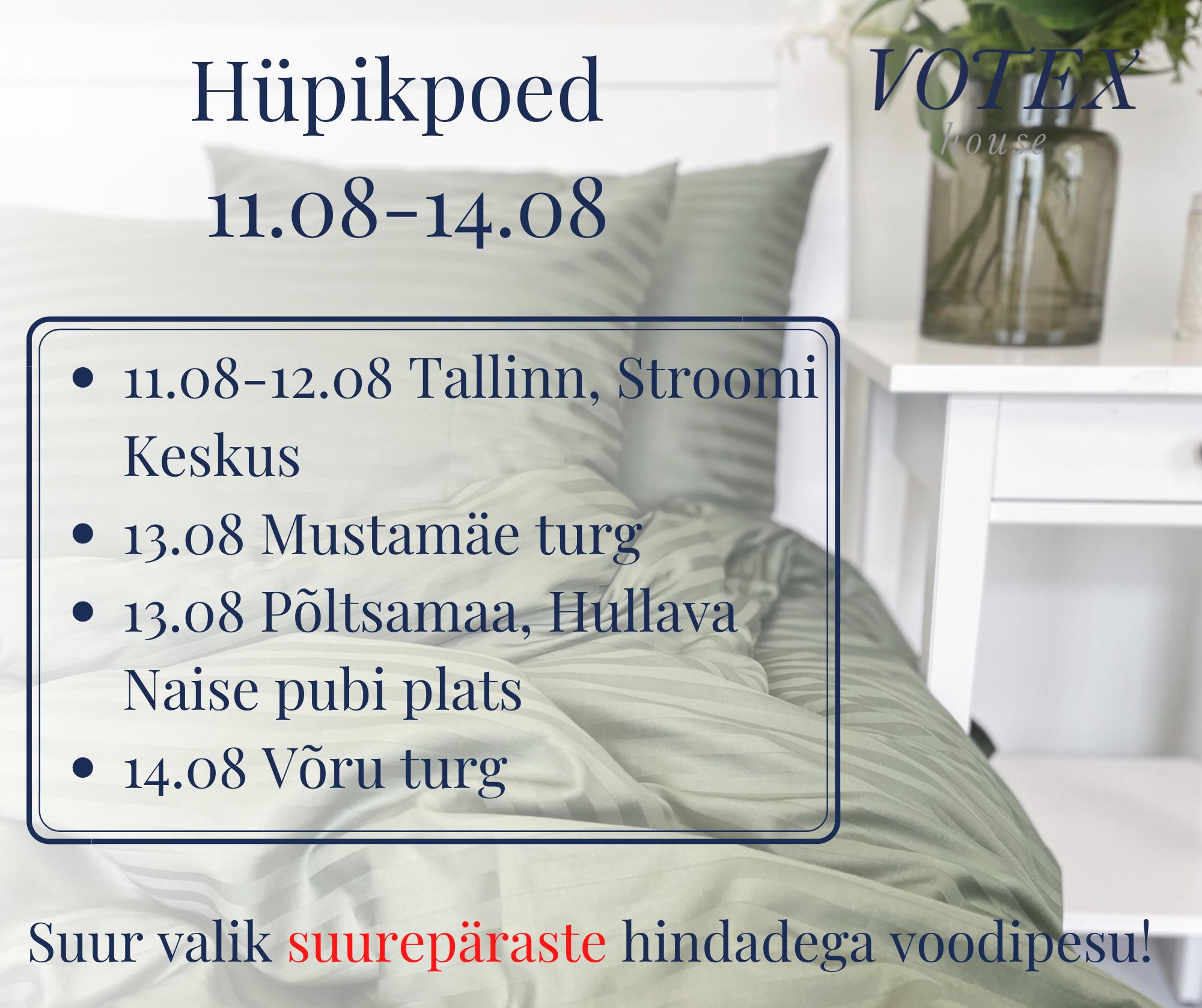 Hüpik-poed 11.08-14.08